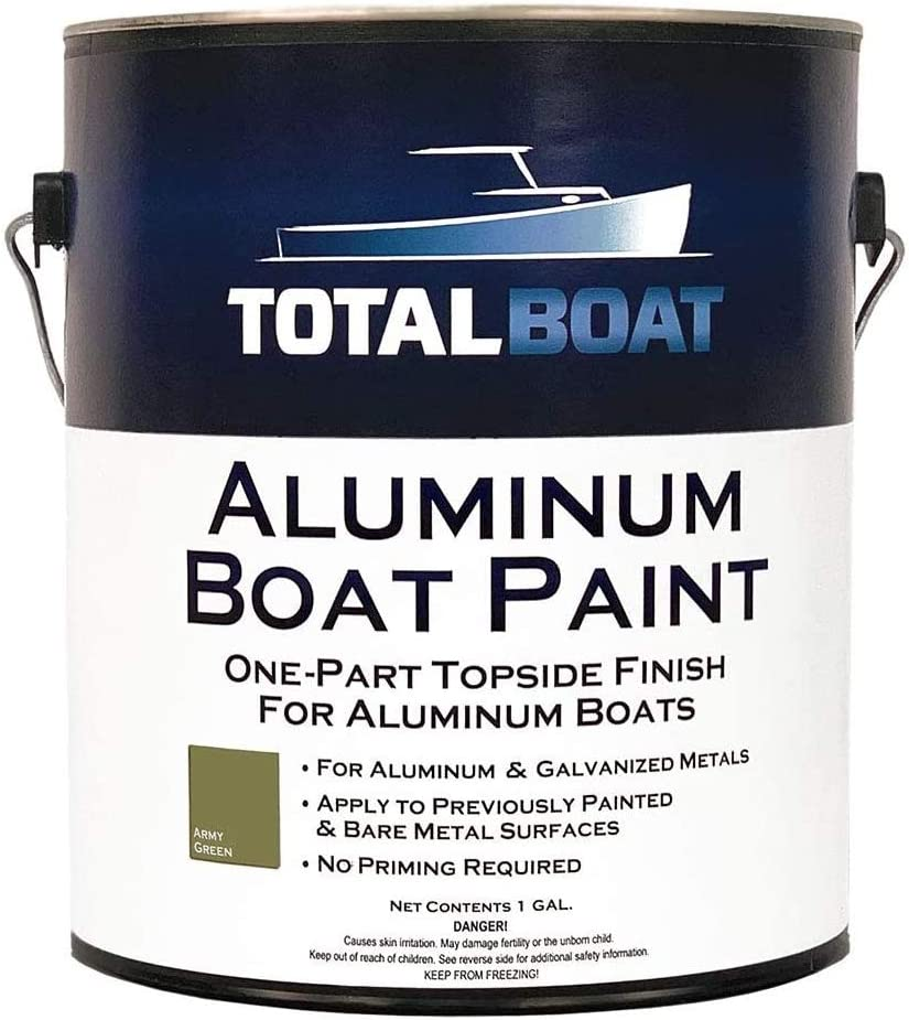 Aluminum Boat Paint for Canoes, Bass Boats, Dinghies, Duck Boats, Jon Boats and Pontoons