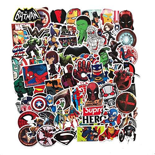 Marvel DC Avengers Superhero Iron Man Beauty Team Black Widow Hulk Batman Sticker 108PCS
