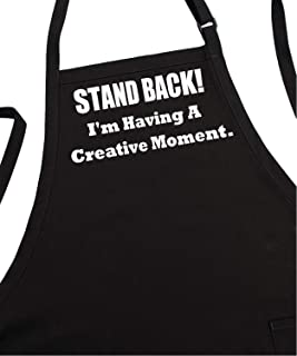 Creative Moment Funny Chef Aprons For Men And Women, Black, Fully Adjustable, Two Pockets, Extra Long Ties