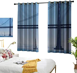 Superlucky Thermal Insulating Blackout Curtain,Sailboat,63