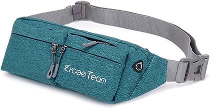 IJEA Fanny Pack Waist Bag Travel Pocket Chest Shoulder Bag Running Belt, Adjustable Band for Workout Vacation Hiking,Waterproof and Wear-Resistant Nylon Fabric