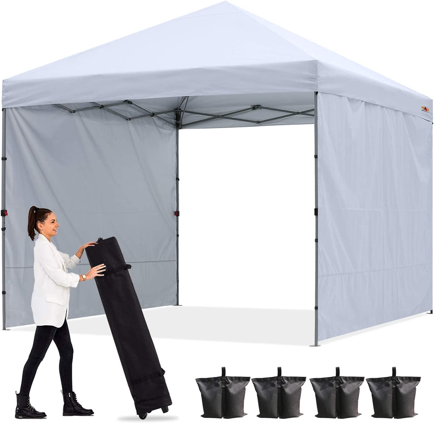 ABCCANOPY Outdoor Easy Pop Special price for a limited time up Canopy Tent W Sun 2 Ranking TOP17 with 8x8 Wall