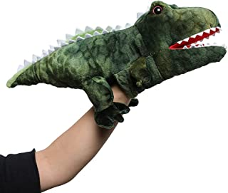 Muiteiur Dinosaur Play HandPuppet Tyrannosaurus Plush Stuffed Toy with Movable Mouth Great Role Play Gift for Kids (Gree...