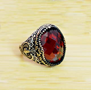 Wedding Gift Ring Natural Garnet Ring Gift For Her Unisex Ring Metaphysical Garnet Ring Solid 925 Sterling Silver Ring Dainty Silver Jewelry