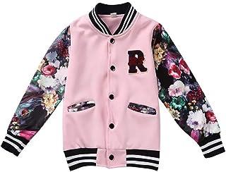 Enfants Gar/çons Filles V/êtements Sweat Baseball Manteau de Marque pour Tout-Petit Printemps Automne Hiver Manteau B/éb/é Outwear 1-9 Ans Sunenjoy