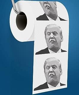 Donald Trump Toilet Paper, Includes Donald Trump Joke eBook & Dump Trump Bumper Sticker, Funny Novelty Toilet Paper, Best Gag Gift Political Prank Gifts for Democrats & Republicans.