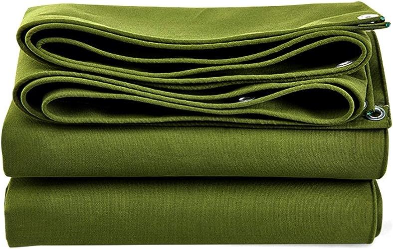 ZQ Baches imperméables résistantes de Vert de, bache résistante à la Corrosion de Parasol, pour la Couverture de Camion, de Voiture, de Tente, de Bateau ou de piscine-4X3M