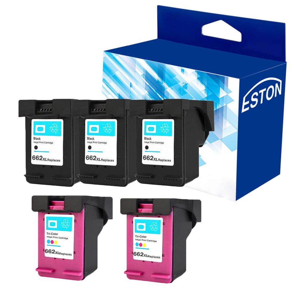 M-online Remanufactured Ink Cartridge Replacement for HP 662XL 662 XL CZ106AL for Deskjet 1015 1515 2515 2545 2645 3515 3545 4645 Printers Color, 2 Pack