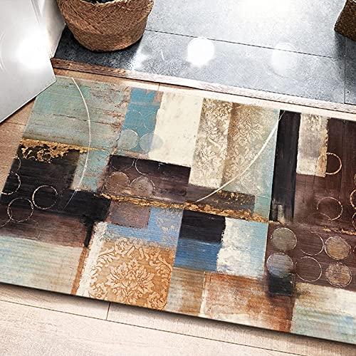 Alfombra Estampada Simple Abstracta De Arte Impermeable Antideslizante Tapete De Puerta Engrosado Tapete De Piso Adecuado para Entrada Puerta Mesa De Café