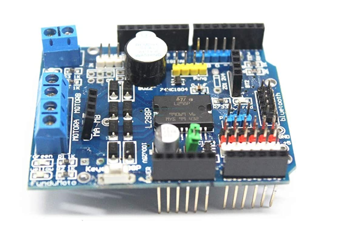 ジョブボア有罪WillBest 10PCS L298P Motor Shield Motor Drive for arduino DC motor drive module/drive expansion board