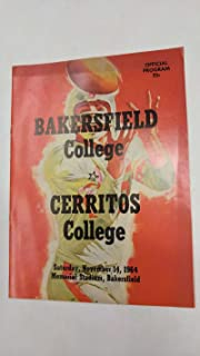 Bakersfield College vs Cerritos College Football 1964 Vintage Program J42287
