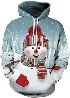 Unisex 3D Ugly Christmas Pattern Pullover Novelty Hoodies Sweatshirt Outwear