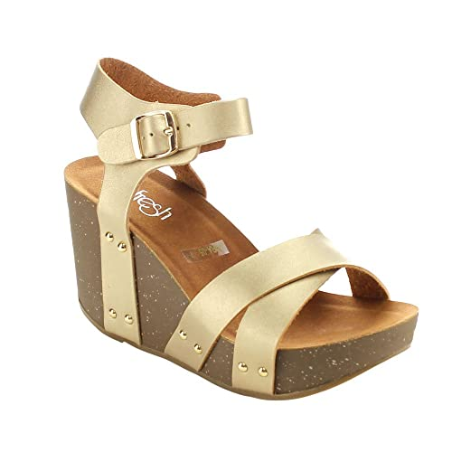c661bb016401 Women s Wedge Platform Cork Sandals  Amazon.com