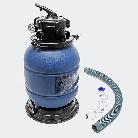 Filtre à sable et particules Cuve filtrante Pool Piscine Hors-sol Filtration