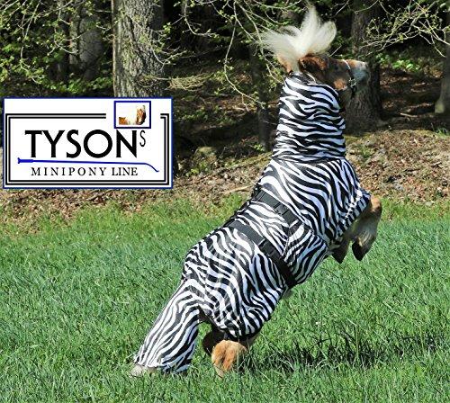 Ekzemerdecke Ekzemer Decke Fliegendecke mit Halsteil Minisehtty Shetty Zebra 60 70 80 90 100 cm Tysons (80)