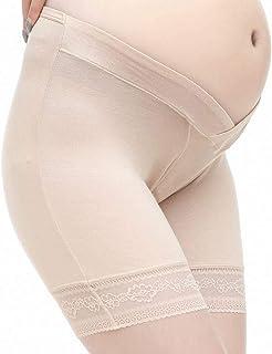 Women's Underwear Large Size Pregnant Women Leggings Pregnant Women's Underwear Low Waist Maternity Pants (Color : Beige, Size : L)