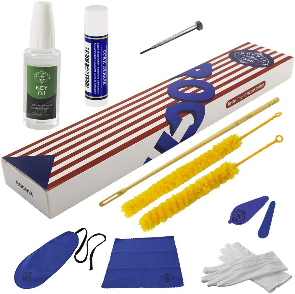Rochix Flute NEW before selling Cleaner Care Cleaning Blue Dark Maintenance Kit free