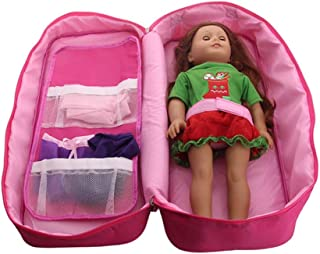 f34eaea162e50 Dinglong Sac de Rangement pour Sac de Rangement de poupée Garde-Robe pour  poupée américaine