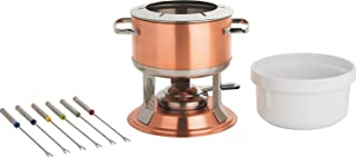 Trudeau Lumina 3-in-1 Fondue Set, 67 oz, Copper