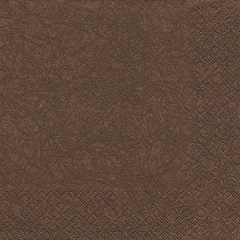 20 Servietten Uni braun / Modern colours / einfarbig / zeitlos 33x33cm