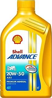 Shell Advance AX5 550043185 20W-50 API SL Mineral Motorbike Engine Oil (1 L)