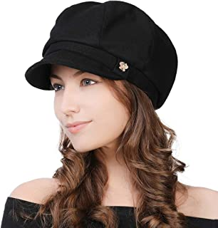 Winter Newsboy Cap for Women Ladies Conductor Paperboy Visor Flat Gatsby Berets Hat 55-60 cm