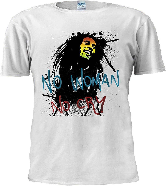 No Mujer Sin CRY Camisa Bob Marley Camiseta Inspirada Reggae Humo Malezas Jamaicanas Ragga Unisex Hombres Camiseta