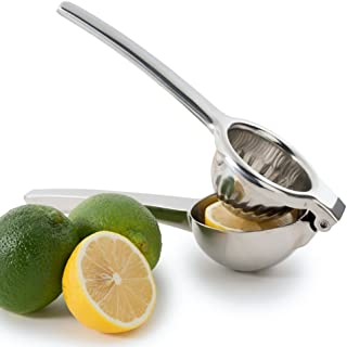 Chefs Star Jumbo Citrus Juicer Lemon Squeezer - Stainless Steel - Lime Squeezer - Orange Squeezer