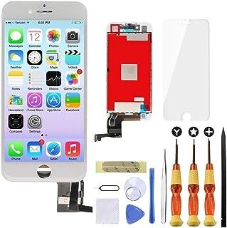 Brinonac LCD 3D Pantalla táctil digitalizador Asamblea de Repuesto con Kit de Herramientas de reparación Instrucción + Protector de Pantalla de Cristal Templado para iPhone 7 4.7 Pulgadas Blanco