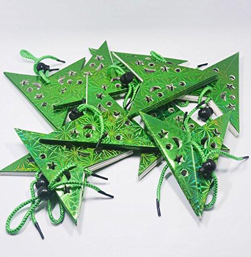 HANGQI 10 pcs coloré Corde de 30 cm à Suspendre Étoile fête de Noël Décor Home Décoration de Sapin de Noël (Vert)
