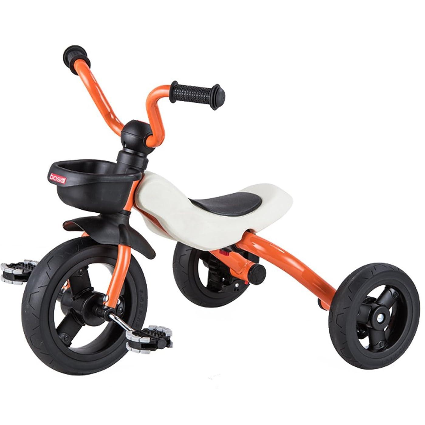 動脈最適もう一度三輪車 折りたたみ 子供用 折りたたみ三輪車 U型ハンドル 組立品 ノーパンクタイヤ オシャレ オレンジ