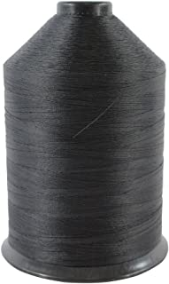 Bonded Nylon Thread #69 - SGT KNOTS - Milspec Thread - All Purpose Sewing Thread - for Leather Stitching, Canvas & Clothing Repair, Upholstery, Horse Saddles, More (16 oz. Spool - Black)