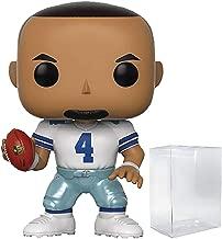 Funko NFL Draft: Dak Prescott (Dallas Cowboys Home Jersey) Pop! Vinyl Figure (Includes Compatible Pop Box Protector Case)
