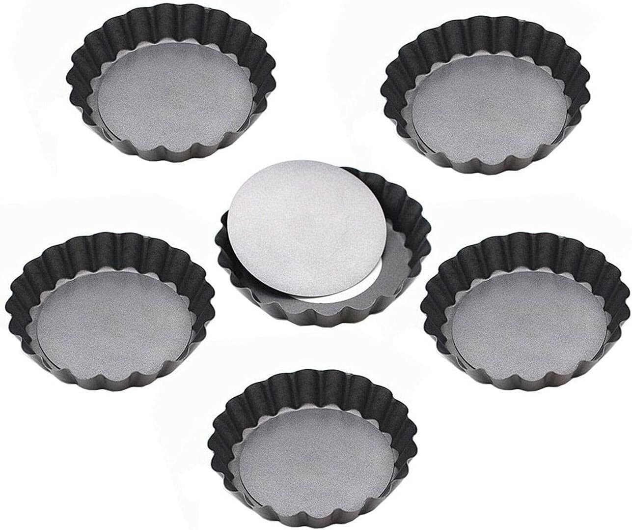 New popularity 3.9 Inch Removable Bottom Quiche Large discharge sale Stick Pans Mini Tart Non