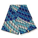 Afrikanischer Stoff – Blaue Eiswürfel – Wachstuch –