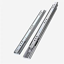 Ladedia Soft Close Heavy Duty Lade Slide Rail 12-30 Inch Kogellager Drie Secties Volledige tentoonstelling (Color : 22 Inc...
