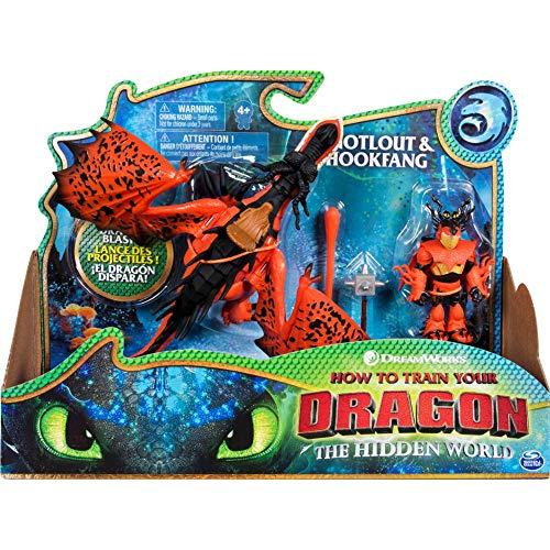 Dragons 6046907 Movie Line - Dragon & Vikings - Rotzbacke und Hakenzahn (Solid), Actionfiguren Drache & Wikinger, Drachenzähmen leicht gemacht 3, Die geheime Welt