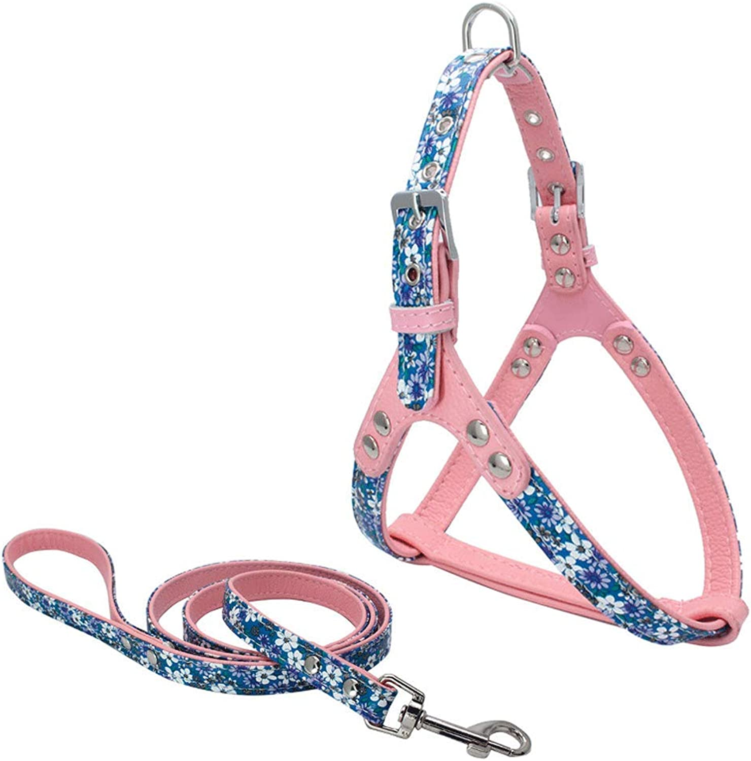 LSX Pet Leash  Small and Medium Pets Silky Imitation Leather AntiLost Chest Straps pet Pull Rope (5 colors Optional) Dog Collar (color   B)