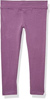 Clementine Apparel Big Toddler Girl's High Rise Fold Over Waist Soft Stretch Yoga Pants