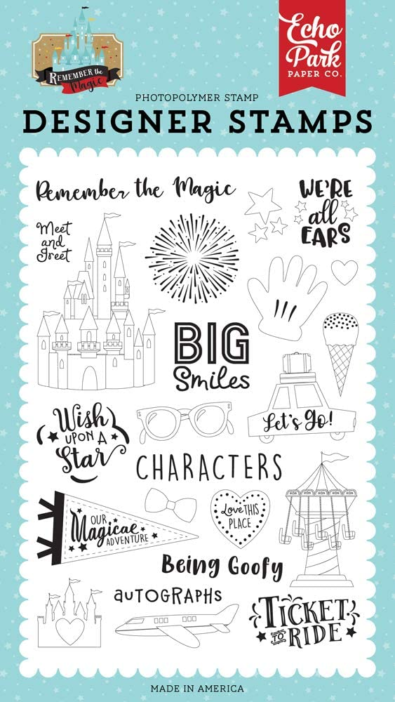 Long-awaited Echo Park Paper New Shipping Free Shipping Company Big Smiles yellow stamp black Set red