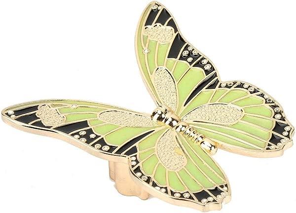 Drawer Pull Handle Zinc Alloy Butterfly Shape Kitchen Cupboard Knobs Wardrobe Bookcase Handles Green Night Lights