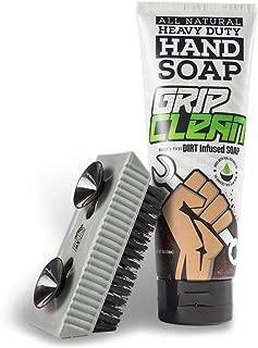 Grip Clean   Heavy Duty Hand Cleaner + Fingernail Brush for Men - Stiff Bristle
