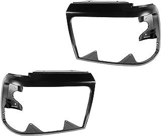1A Auto Headlight Trim Bezels Black LH & RH Pair Set for Ford Bronco F150 F250 F350 F450
