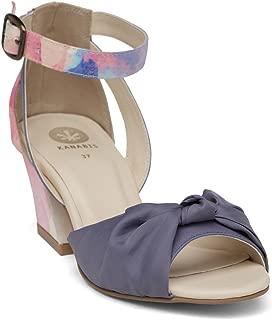 KANABIS Women's Miss Knotty-Blue Fashion Sandals