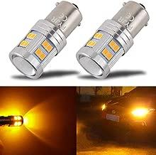 1156 Ba15s 1141 1003 7506 1156A Super Bright LED Bulb PYJR AC/DC 10-30V, 600 Lumens, Amber Yellow for Car RV Interior, Turn Signal, Blinker, Side Marker Lights Bulbs (Pack of 2)