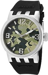 Invicta 12557 Reloj Análogo para Hombre, Negro/Plata