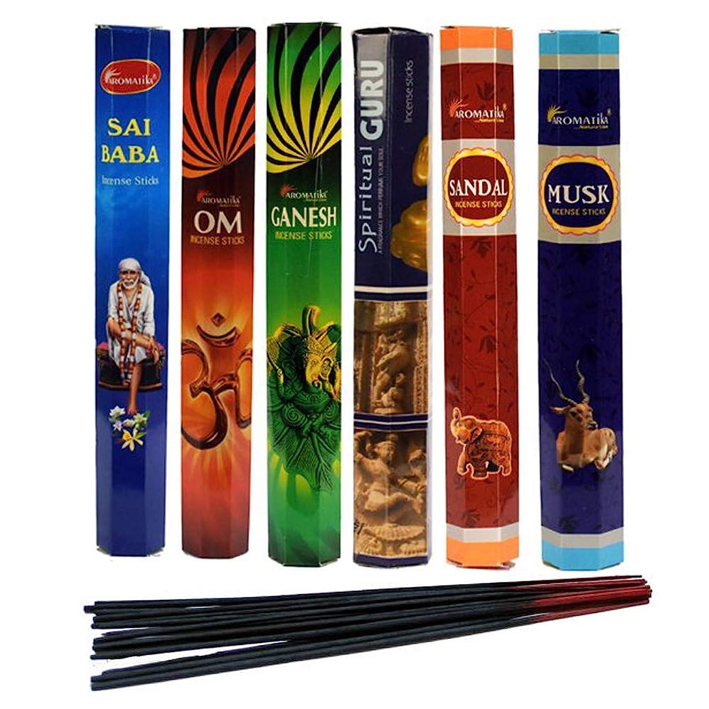 プーノ親密な電気aromatika Incense Sticks Best Sellers Spiritual Hexa 6ボックスX 20スティック、コンボパック、合計120?Sticks ( 120?Sticks )