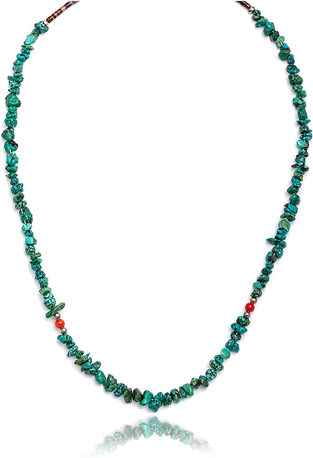 $200Tag Silver Max 43% OFF Certified Navajo Native Lowest price challenge Turquoise Nec Coral Chain