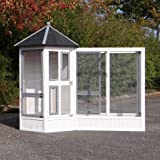 JoyPet.eu Aviary, bird cage Hannah with run White-Grey 213x127x187cm