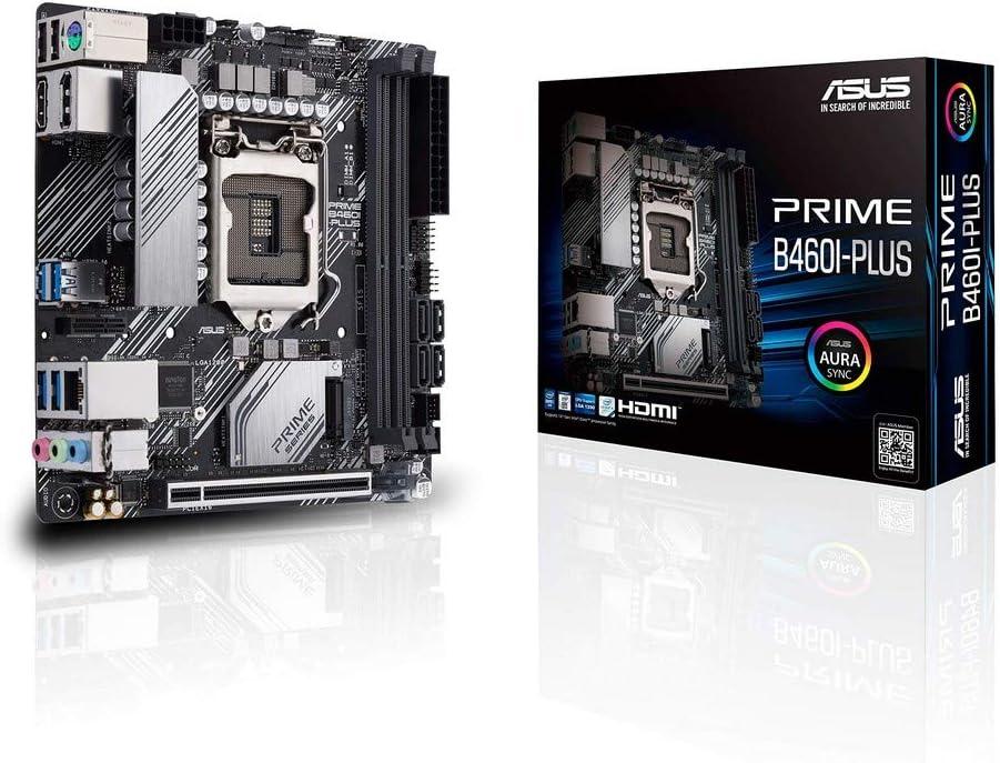 Asustek computer ASUS Prime B460I-PLUS - Placa Base - Mini ITX - LGA1200 Socket - B460 - USB 3.2 Gen 1 - Gigabit LAN - gráficos Integrados (Requiere CPU) - Audio HD (8 Canales)